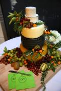 Rustic cheese tower!