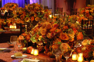 glamour large table centres